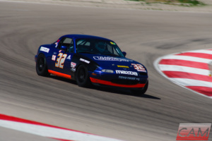 CHG athlete Greg Troester races his Mazda