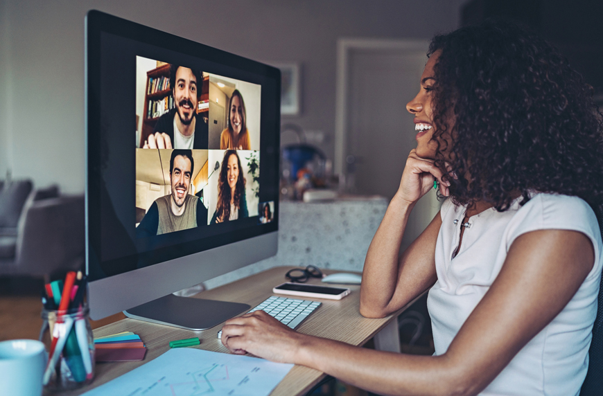 woman working to stay connected with stakeholders