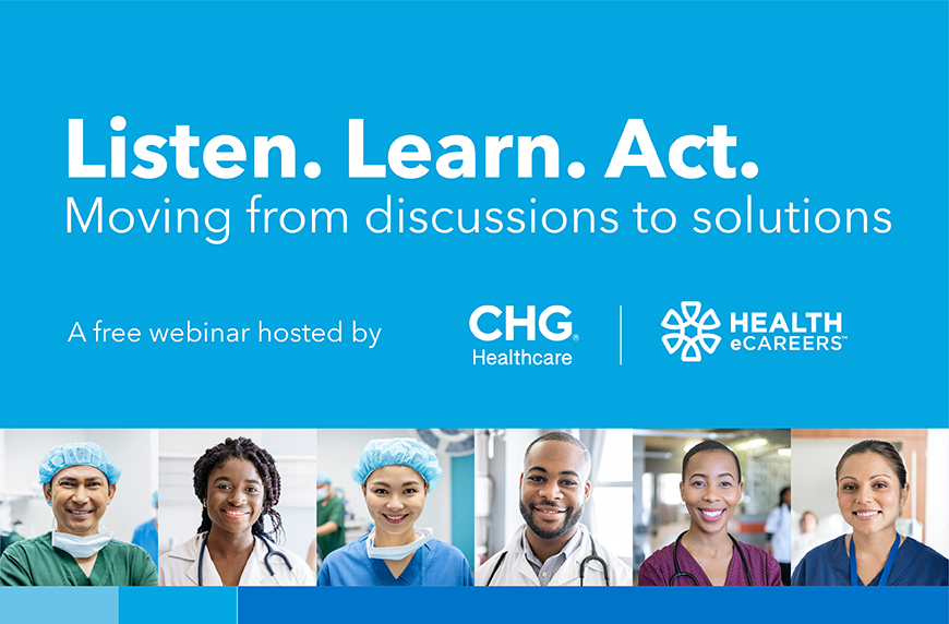 Diversity, equity, and inclusion in healthcare webinar graphic